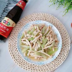 海鲜菇炒丝瓜