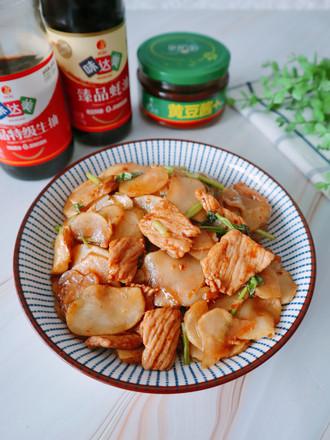 洋姜炒肉的做法