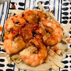 鲜虾凉拌杏鲍菇