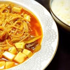 茄汁双菇烩豆腐