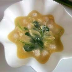 鱼丸根达菜蛋汤