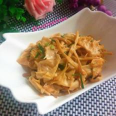 豆腐皮炒黄花菜
