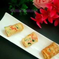 黄瓜火腿肠蛋卷饼