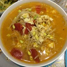 番茄豆芽鸡蛋汤