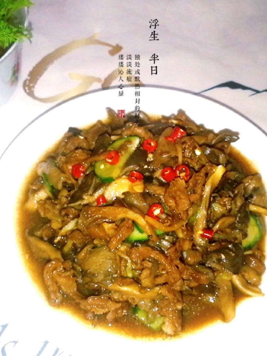 羊肉炒平菇