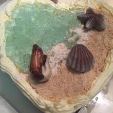 海洋之心慕斯蛋糕