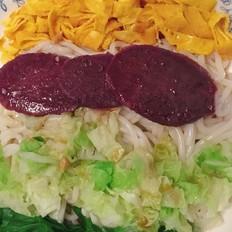 五彩时蔬凉米线