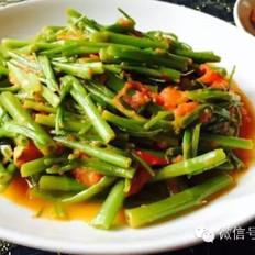 西红柿炒空心菜 素食超简单