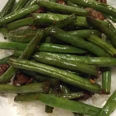 干煸肉末四季豆