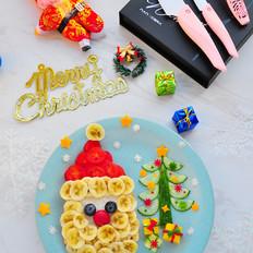 圣诞老人果蔬餐盘