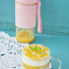 黄桃酸奶的做法