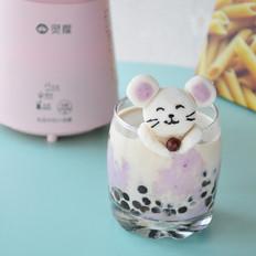 山药紫薯芝士奶茶的做法
