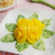 玫瑰花蛋饼