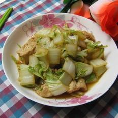 白菜炒冻豆腐
