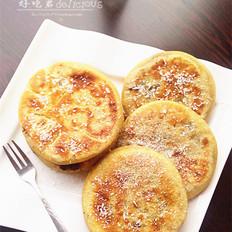 豆沙红薯饼