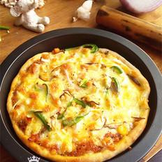 鸡肉时蔬披萨