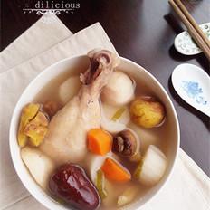 山药栗子鸡汤