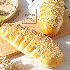 豆沙麦穗面包