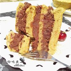 红豆沙抹茶蛋糕