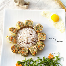小狮子餐盘画