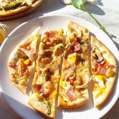 培根薄底披萨