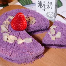 奶香紫薯米糕的做法