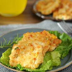 鸡胸肉虾仁鲜蔬饼