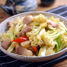 花菜炒肉--【孔老师教做菜】
