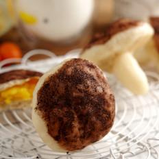 蘑菇奶黄包【孔老师教做菜】