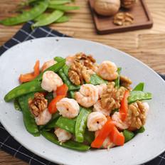 营养美味又健脑的小炒菜——核桃虾仁炒荷兰豆