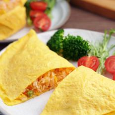 孩子们爱吃的蛋包饭,做法如此简单——蛋包饭