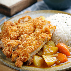 咖喱鸡排饭