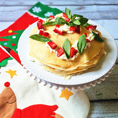 圣诞千层可丽饼