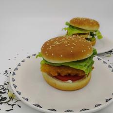 汉堡︱香辣鸡排堡