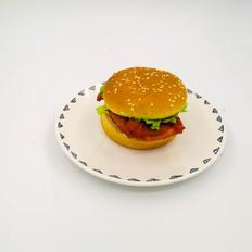 汉堡︱红色鸡排汉堡