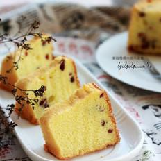 蔓越莓糯米戚风蛋糕