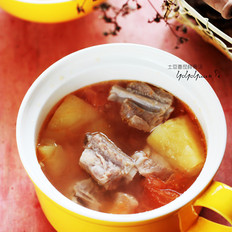 土豆番茄排骨汤