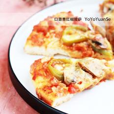 口蘑青红椒披萨