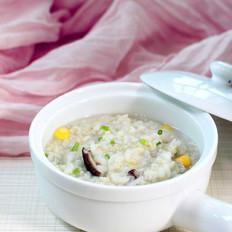 香菇玉米燕麦粥的做法
