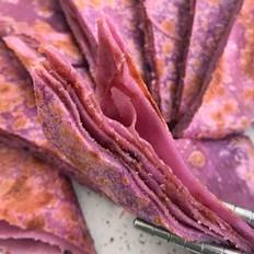 紫薯牛奶麻酱糖饼