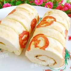 西红柿蛋糕卷