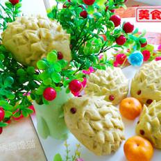 小刺猬菠菜汁肉包