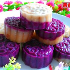 双色紫薯糯米糍