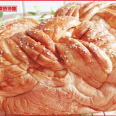辫子肉松吐司(一次性发酵)