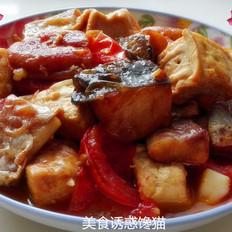 巴沙鱼焖豆腐