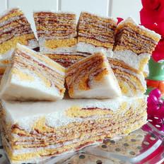 南瓜豆沙千层发面饼
