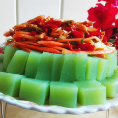 黄瓜汁豌豆凉粉
