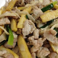 香干肉片炒平菇