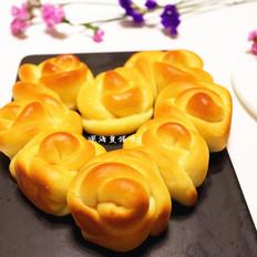 蜂蜜糯米玫瑰心形小餐包(汤种法)