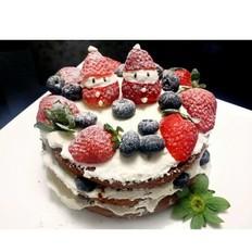 圣诞呆萌裸蛋糕